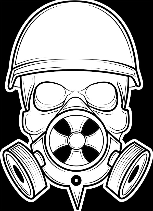 Skull Gas Mask Drawings Skull Gas Mask By...702 x 780