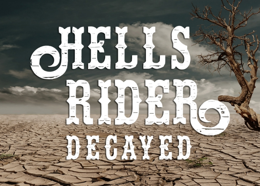Hell's Rider Decay Font