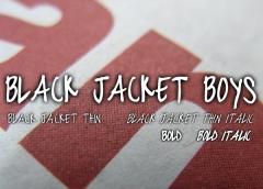 Black Jacket Boys Font